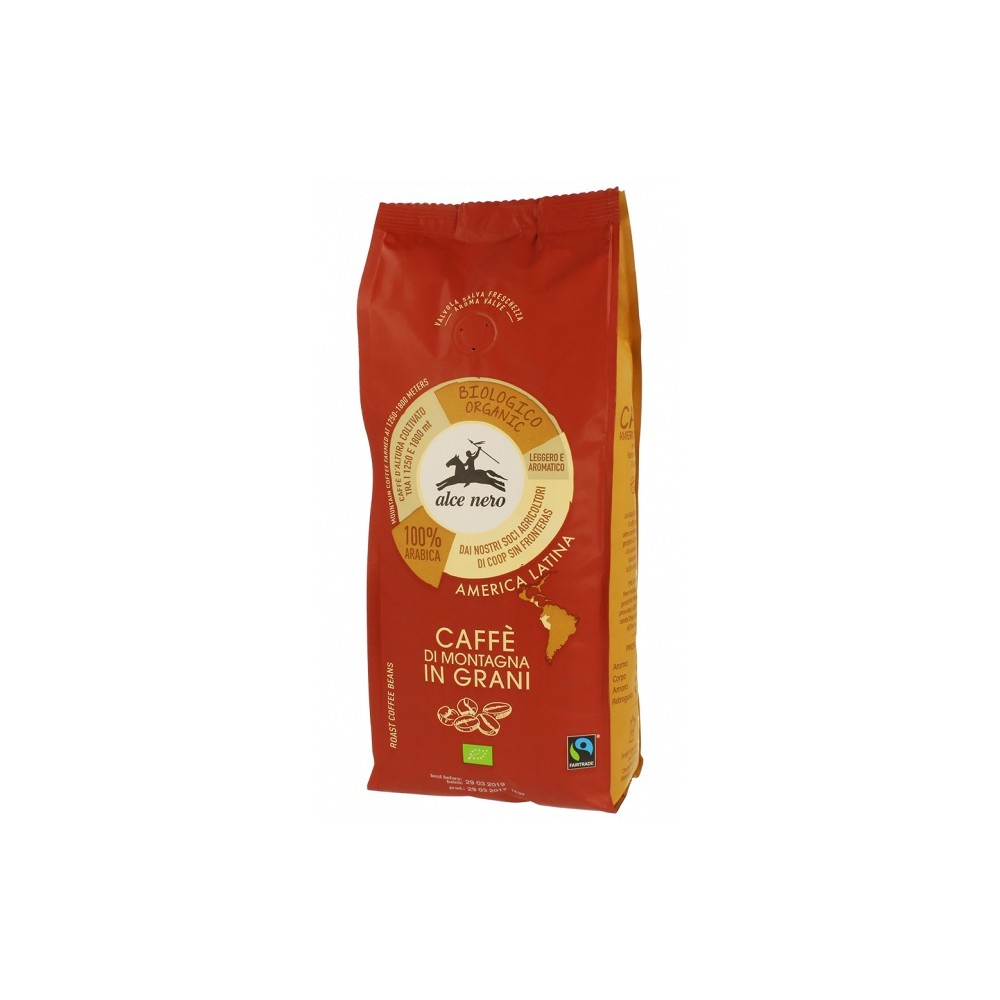 KAWA 100% ARABICA ZIARNISTA FAIR TRADE BIO 500 g - ALCE NERO